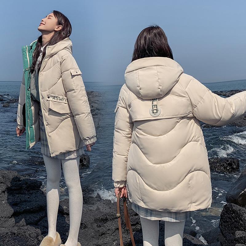 女韩版中长款羽绒棉棉衣网红面包服