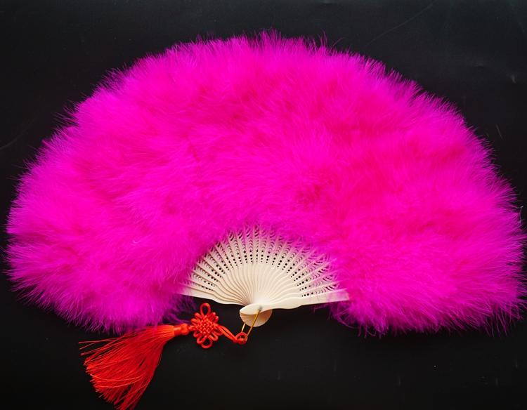Декоративный веер Dongfu feathers  50*30cm