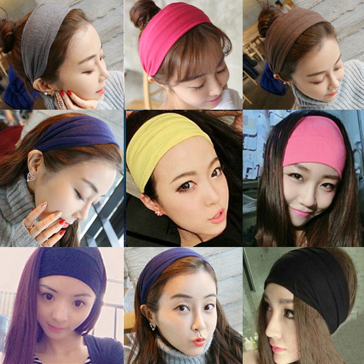 韩国简洗脸发带v头带发带头带头巾发绳约束发箍压发头饰宽边头套女