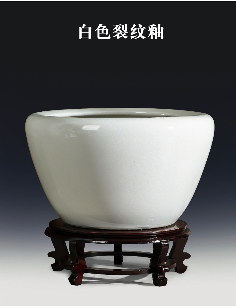 Jingdezhen ceramics aquariums antique gold tortoise cylinder water lily grass cooper hydroponic king home furnishing articles