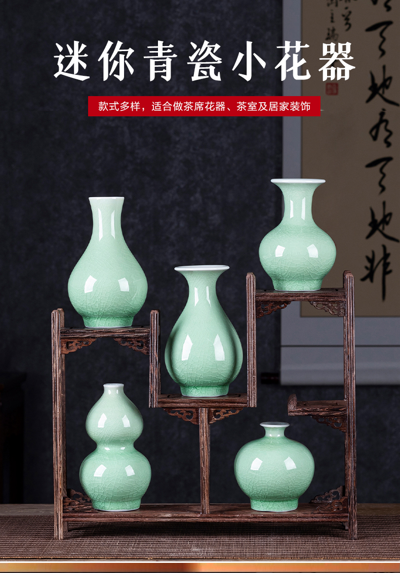 Jingdezhen ceramics mini floret bottle of flower arranging furnishing articles of I and contracted sitting room of Chinese style household table decorations