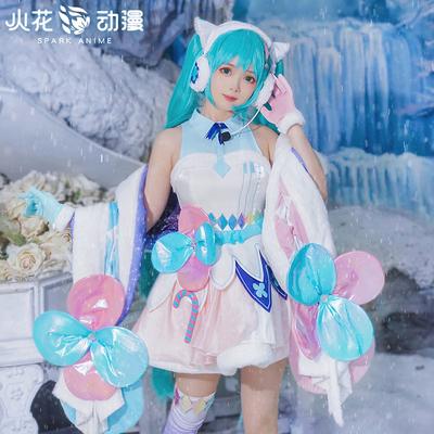 taobao agent Spark anime hatsune miku cos clothing magic hatsune miku2020 Tokyo kimono cosply costume female