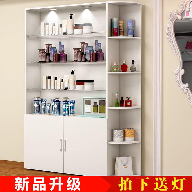 Cosmetics Display Cabinet Glass Cabinet Beauty Salon Korean Display Cabinet  Barber Shop Storage Cabinet Nail Shelves Custom