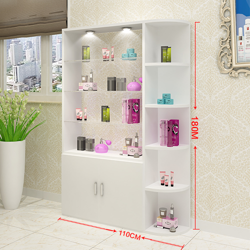 Cosmetics Gl Display Cabinet Beauty Salon Products Showcase Barber Shelves Nail Custom
