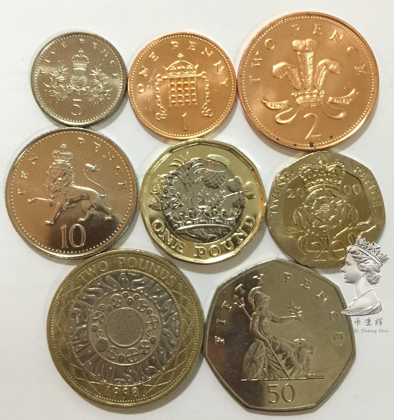 British Pound Sterling Set Uk 1 2 5 10 20 50