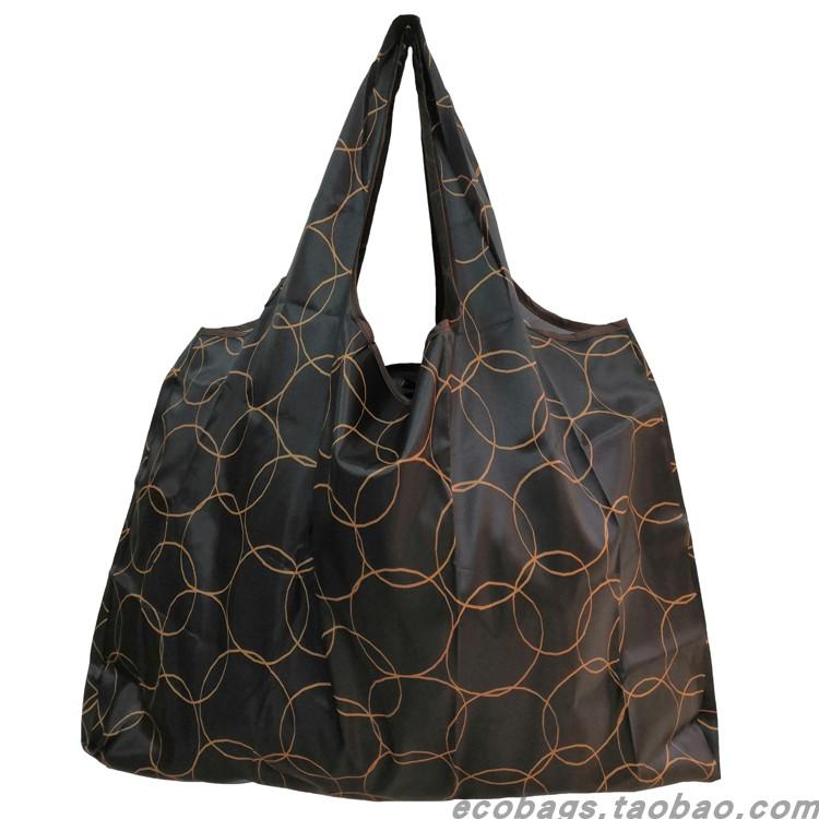 涤纶折叠号超市防水购物袋环保手提袋超大时尚大容量买菜袋购物袋