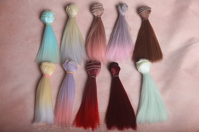 taobao agent bjd doll Kerr Ye Luoli wig diy hair row high temperature wire heat-resistant wire homemade wig material highlighting