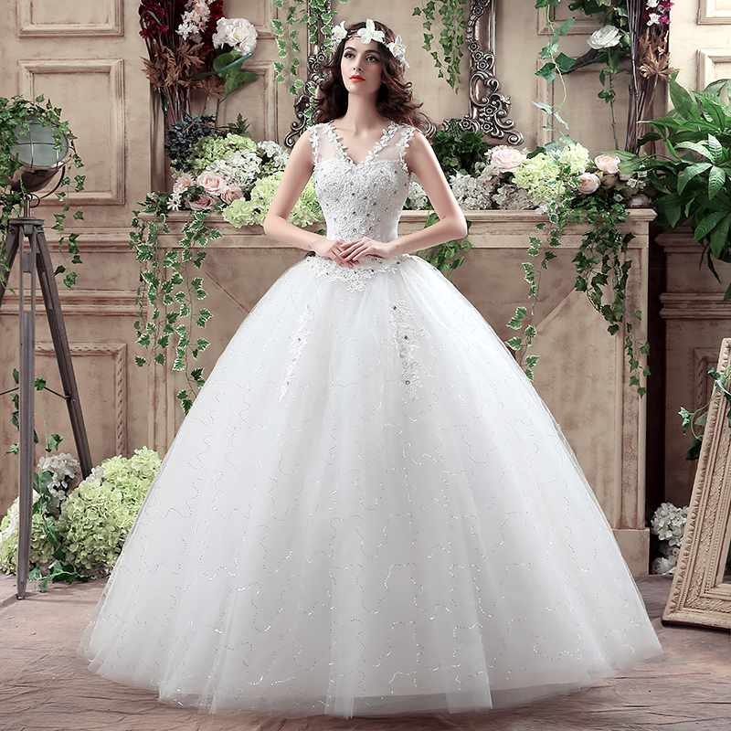 1fed25b71f Korean Lace Up Ball Gown Quality Wedding Dresses 2018 Alibaba ...
