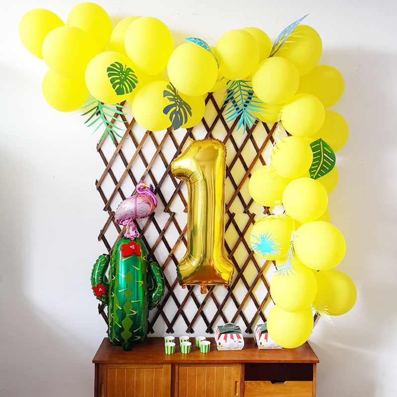 Ins Forest Wind Popular Birthday Party Decoration Decorative Balloon Chain Adult Children Boys And Girls Baby 1 Year Old