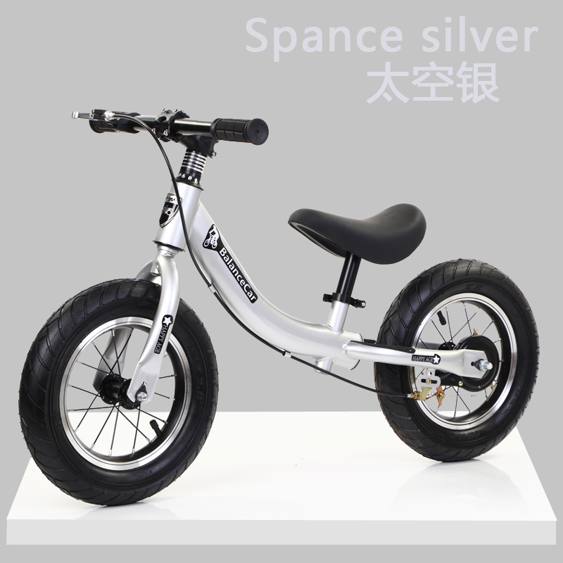 F Silver [high Carbon Steel Body + Pneumatic Tires]  With Brakes