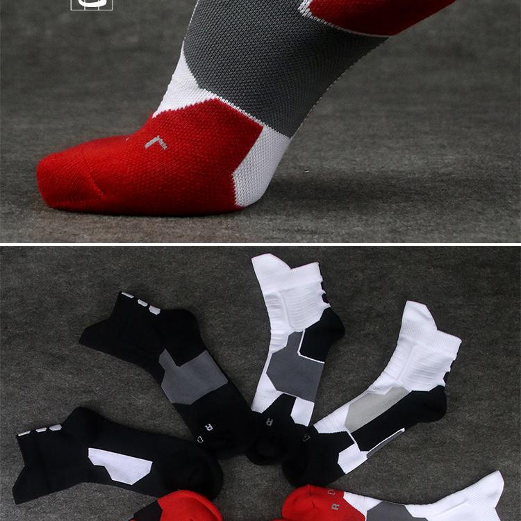 运动训练短筒袜过踝足球篮球跑步健身羽毛球吸汗厚毛巾底耐磨男详细照片