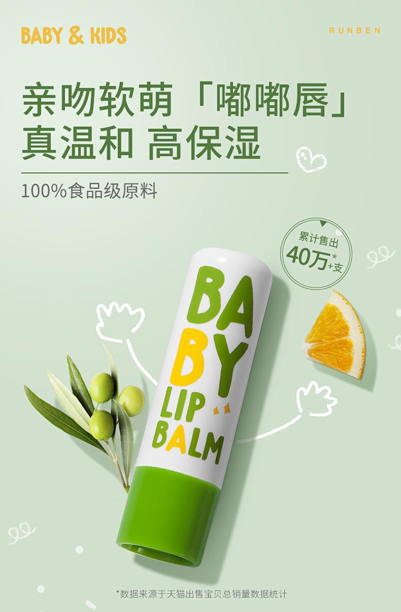 润本 婴儿护唇膏 4g*2支装 天猫优惠券折后¥14.9包邮(¥29.9-15)