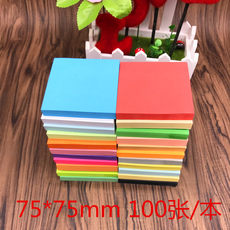 Qiyang stationery fluorescent color 76*76mm post-it office stationery N times post-it note stickers notice stickers