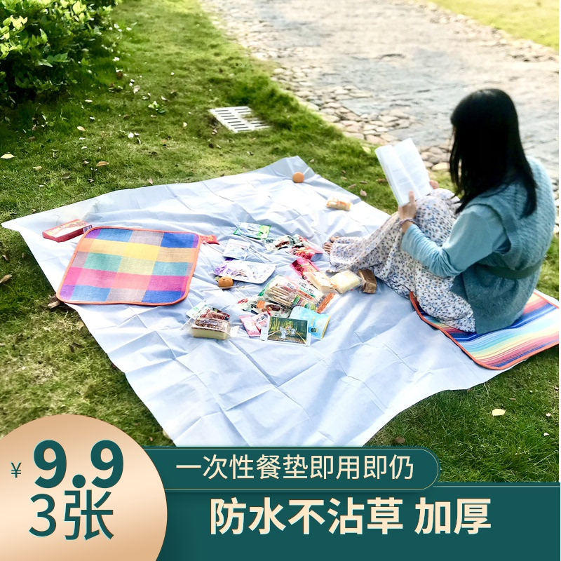 Disposable picnic mat thickened travel camping picnic lawn cushion waterproof, moisture-proof, oil-proof, easy to use and throw