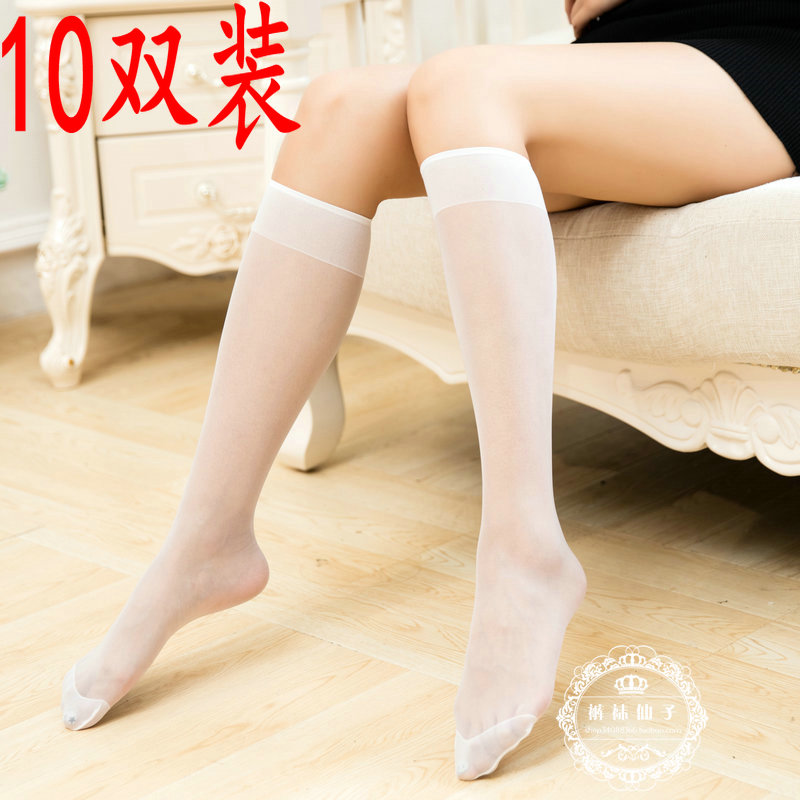 919f3e51f Japanese summer tube stockings ultra-thin knee-length socks Korean ...