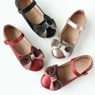 Soft QQ princess shoes girls soft bottom Doudou shoes children single shoes shoes zhongtong Spring style