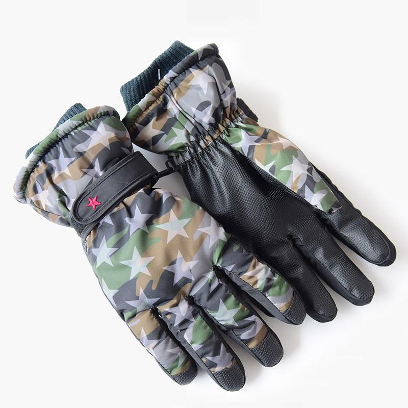 ถุงมือลายทหารสีเขียว
