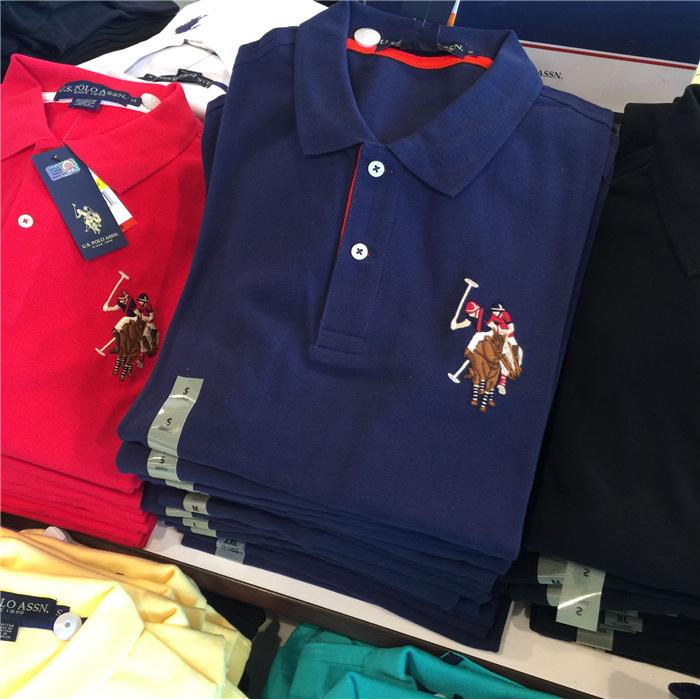 Mỹ Polo Assn Polo Hiệp hội người đàn ông của Malaysia ngắn tay áo polo bông Mỹ chính hãng tại chỗ t shirt golf