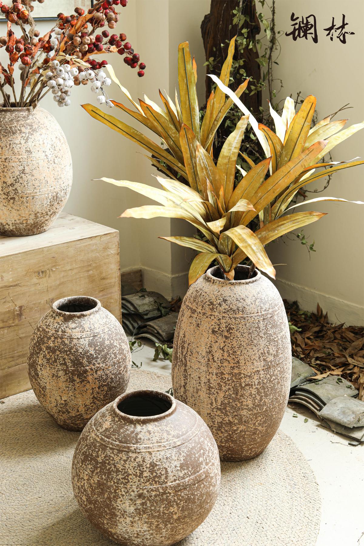 Simulation of plant leaves restoring ancient ways do old zen put POTS dry flower adornment wabi-sabi wind b&b hotel floral furnishing articles