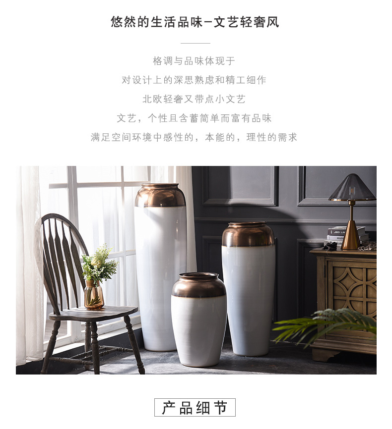 Extra large size of large vases, ceramic I and contracted white flower arranging home decoration villa hotel open furnishing articles