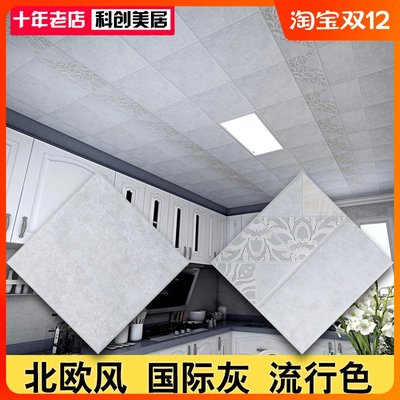 Popularity Gray Simple Integrated Ceiling Nordic Style Aluminum Buckle Kitchen Bathroom Tianshu Decoration Materials 300