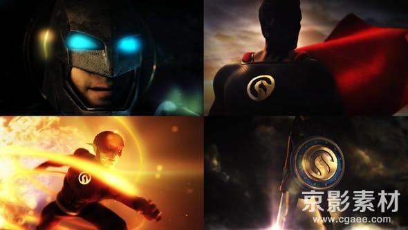 AE模板-超级英雄Logo标志动画展示片头 Super Epic Hero Logo