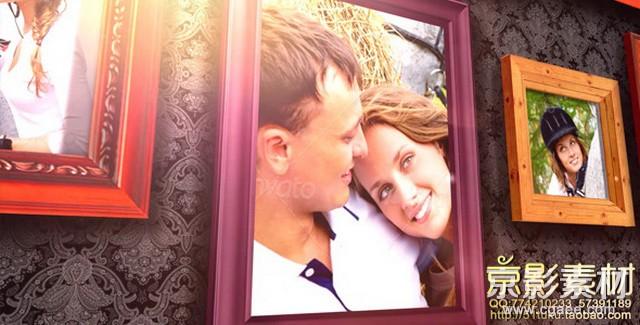 AE模板-经典浪漫回忆相册照片墙展示片头 Classic Photo Gallery