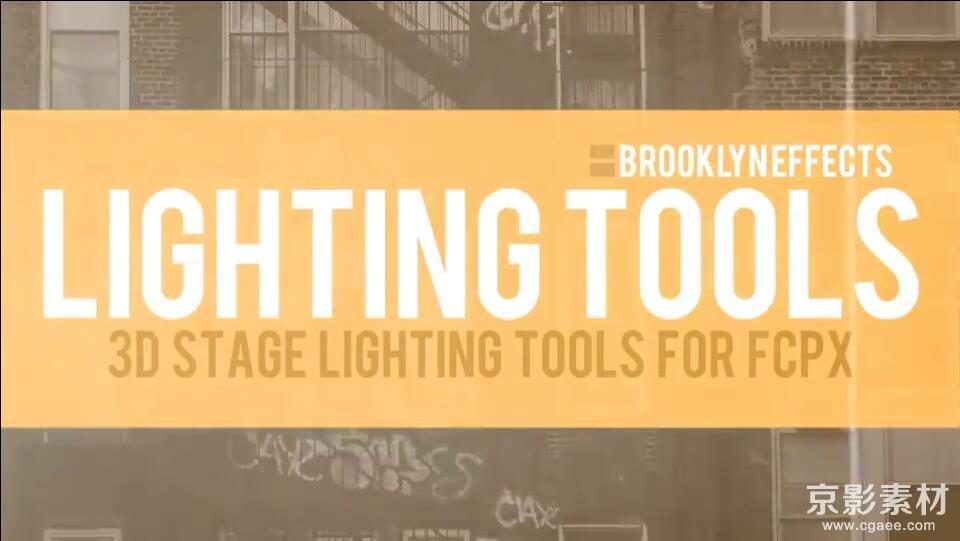 FCPX插件 Lighting Tools-聚光灯照明灯光效果预设Final Cut Pro X 插件