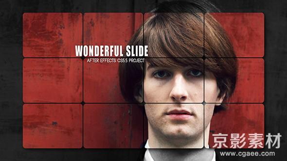 AE模板-时尚模特幻灯片展示片头 Wonderful Slide