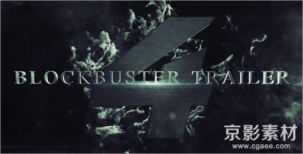 AE模板-震撼史诗电影预告片头演绎片头 Blockbuster Trailer 4