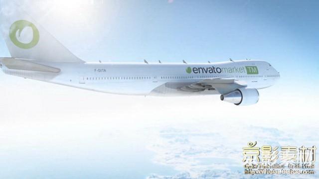 AE模板-三维真实航空飞机Logo展示片头 Your Airlines