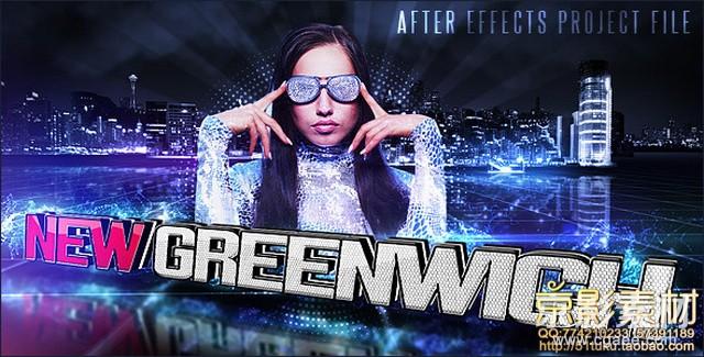 AE模板-流行时尚炫酷音乐节目宣传开场片头 New greenwich