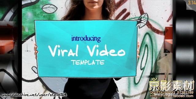 AE模板-真实场景营销宣传片头Viral Video Template