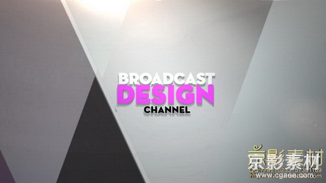 AE模板-简洁优雅电视栏目片头Broadcast Design Channel Ident