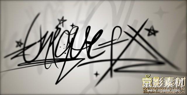 AE模板-动画涂鸦效果片头 Tagtool–Animated Graffiti