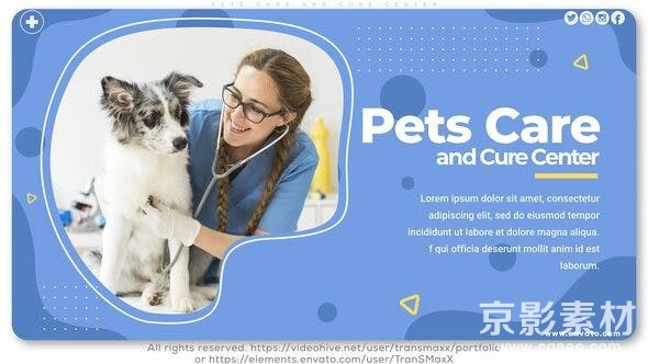 AE模板-宠物护理中心宣传展示片头 Pets Care and Cure Center 26234057