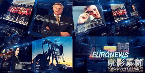 AE模板-电视新闻体育天气广播包装片头 TV Broadcast News Packages