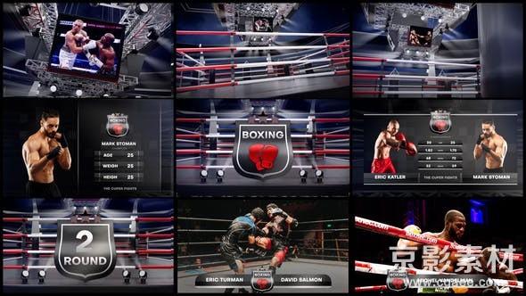 AE模板-拳击体育竞技比赛开场片头 Boxing Opener 24952546