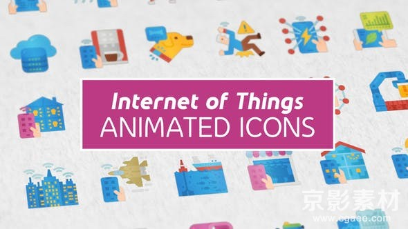 AE模板-扁平化物联网MG动画图标元素 Internet of Things Modern Flat Animated Icons
