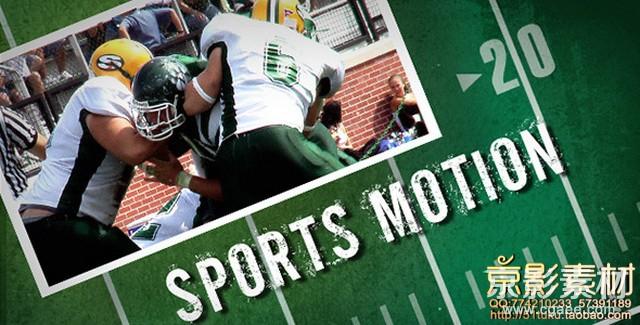 AE模板-橄榄球体育运动比赛片头 Sports Motion