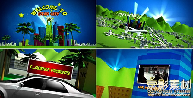 AE模板-卡通房地产项目展示片头 Cartoon Star City
