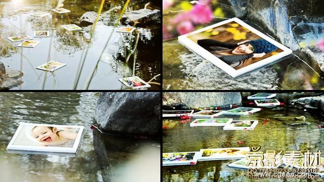 AE模板-湖面漂浮甜美回忆图片展示片头 Floating Memories