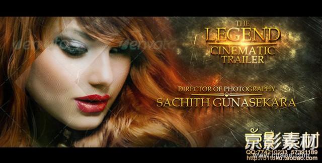 AE模板-金属质感大气电影预告片片头 The Legend Cinematic Trailer