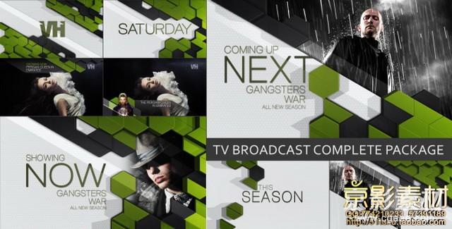 AE模板-流行时尚电视广播包装片头TV Broadcast Complete Package