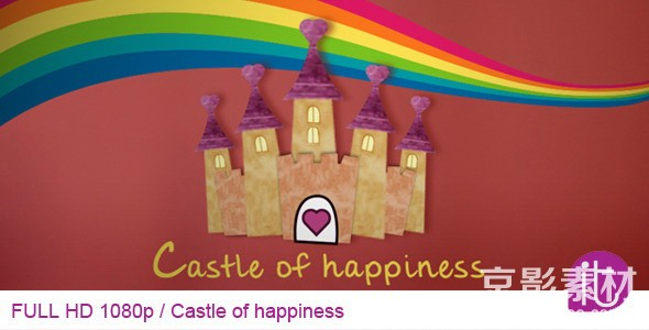AE模板-幸福城堡相册图片展示片头 Castle of Happiness