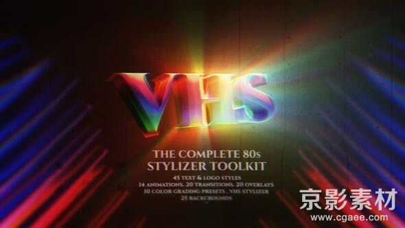 AE模板-完整的80年代风格效果文字标题样式控制器工具包-The Complete 80s Stylizer Toolkit Retro Text Maker