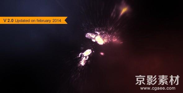 AE模板-闪烁粒子汇聚成logo演绎片头 Particle Rush