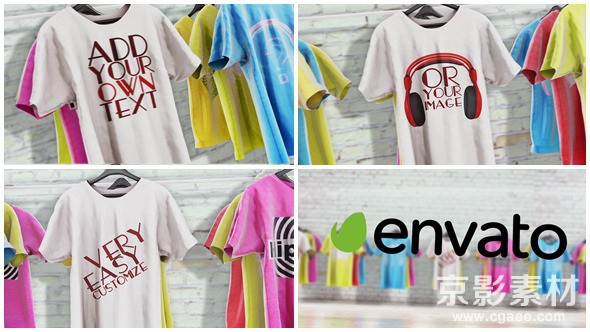 AE模板-时尚T恤衬衫logo展示片头 T-Shirts Promo