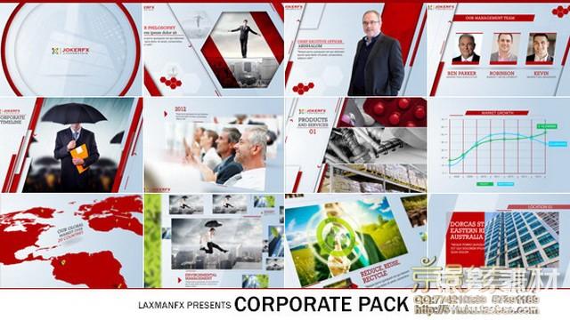 AE模板-清新时尚企业公司宣传片模版包 Corporate Pack