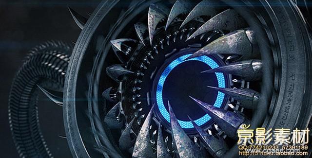 AE模板-高科技怪物LOGO演绎片头 Hi-Tech Monster Logo Sting